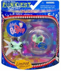 Littlest Pet Shop Series 1 Limited Edition Extreme Punkiest Iguana Damaged Package, Mint Contents!!