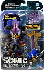 Sonic & Black Knight 5 Inch Metallic Action Figure Sir Lancelot Shadow [Purple Armor]