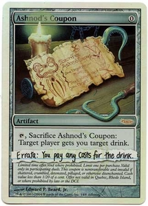 Magic the Gathering Other Promo Card #14 Ashnod's Coupon [Player Rewards]