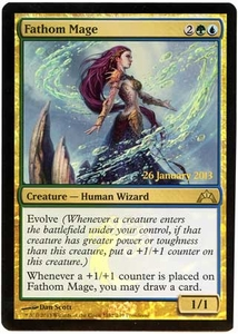 Magic the Gathering Prerelease & Release Promo Card #162 Fathom Mage [PreRelease Promo]