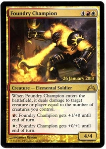Magic the Gathering Prerelease & Release Promo Card #165 Foundry Champion [PreRelease Promo]