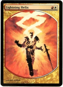 Magic the Gathering Textless Player Rewards Promo Card #7 Lightning Helix [Textless Player Rewards]
