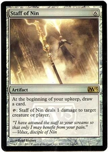 Magic the Gathering Prerelease & Release Promo Card #217 Staff of Nin [PreRelease Promo]
