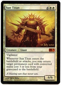 Magic the Gathering Prerelease & Release Promo Card #35 Sun Titan [PreRelease Promo]