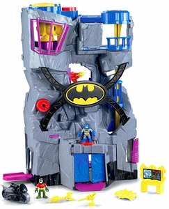 Imaginext DC Super Friends Mega Deluxe Batcave Playset [Brown Box, No DVD]