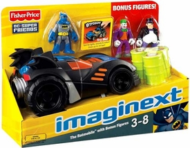 Imaginext DC Super Friends Batmobile with Bonus Figures [Joker & Penguin]