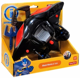 Imaginext DC Justice League Figure Black Manta & Sub