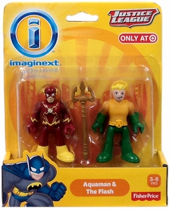 Imaginext DC Justice League Exclusive Mini Figure 2-Pack Aquaman & Flash
