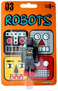 Cuboyds Series 03 Mini Super Articulated Action Figure Robots Cuboyd ro-K (Black)