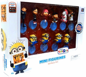 Despicable Me 2 PVC 2 Inch Mini Figure 10-Piece Set [Gru, Dr. Nefario, Margo, Edith, Agnes, Unicorn, Tim, Dave, Tom & Stuart]