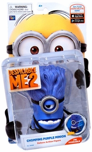 Despicable Me 2 DELUXE 5 Inch Action Figure Chomping Purple Minion