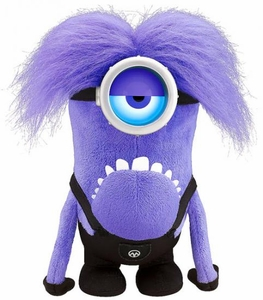 Despicable Me 2 Plush 12 Inch Figure Talking & Light up Purple Minion [Multi-Color Glowing Eye]