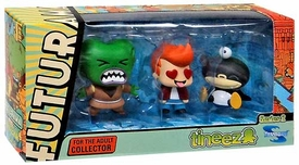 Futurama Tineez Series 2 Minifigure 3-Pack Nibbler, Morbo & Fry