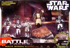 Star Wars Saga 2006 Action Figure Exclusive Battle Pack Mace Windu's Attack Battalion