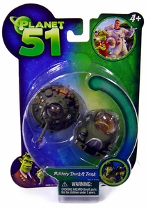 Planet 51 Movie Toy Mini Vehicle Figure 2-Pack Military Truck & Tank