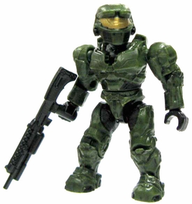 Halo Wars Mega Bloks LOOSE Mini Figure UNSC Green Spartan with Shotgun