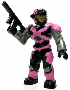 Halo Wars Mega Bloks LOOSE Mini Figure UNSC Pink Air Assault Spartan with Silenced SMG