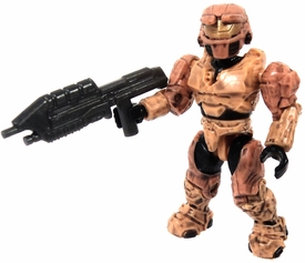 Halo Wars Mega Bloks LOOSE Mini Figure UNSC Tan Spartan with Assault Rifle