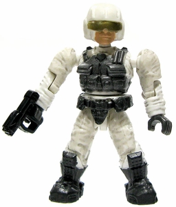Halo Wars Mega Bloks LOOSE Mini Figure UNSC White Pilot with Magnum