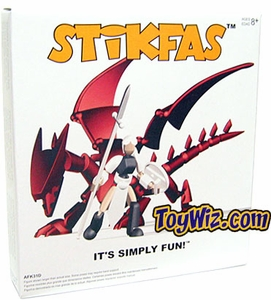 Stikfas Redeco Deluxe Action Figure Kit #AFK31D Beta Female Rider with Red Dragon