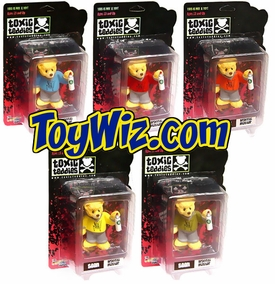 Toxic Teddies Seen Graffiti Master Set of 5 Bears