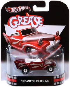 Hot Wheels Retro Grease 1:55 Die Cast Car Greased Lightning