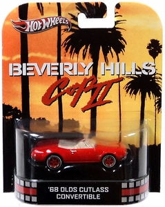 Hot Wheels Retro Beverly Hills Cop II 1:55 Die Cast Car '68 Olds Cutlass Convertible