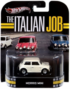 Hot Wheels Retro The Italian Job 1:55 Die Cast Car Morris Mini [White]