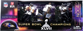 McFarlane Toys NFL Sports Picks Super Bowl Action Figure 3-Pack Joe Flacco, Ray Lewis & Jacoby Jones (Baltimore Ravens)