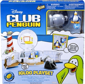 Disney Club Penguin Deluxe Igloo Playset Damaged Package, Mint Contents!