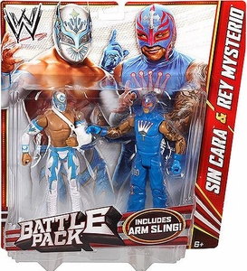 Mattel WWE Wrestling Basic Series 22 Action Figure 2-Pack Sin Cara & Rey Mysterio [Arm Sling!]