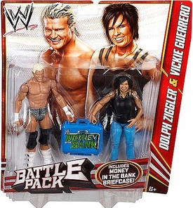 Mattel WWE Wrestling Basic Series 22 Action Figure 2-Pack Dolph Ziggler & Vickie Guerrero [Money in the Bank Briefcase!]