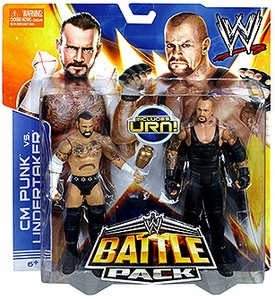 Mattel WWE Wrestling Basic Series 25 Action Figure 2-Pack CM Punk & Undertaker [Includes Urn!]