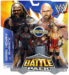 Mattel WWE Wrestling Basic Series 25 Action Figure 2-Pack Ryback & Mark Henry [Trashcan!]