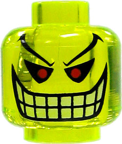 LEGO Batman LOOSE Head Accessory Joker Bomb