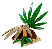 LEGO LOOSE Terrain Jungle Fern Base