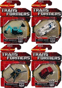 Transformers: Generations Minicons 2 Inch Action Figures Set of Four [Drivetrain, Break-Neck, Swashplate, Pan-Handler]