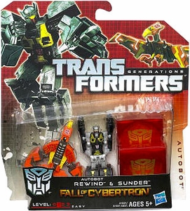 Transformers Generations Legends Action Figure 2-Pack Autobot Rewind & Sunder [Fall of Cybertron]