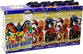 Teen Titans Heroclix Booster Brick [8x Booster Packs & 1x Team Base Super Booster]
