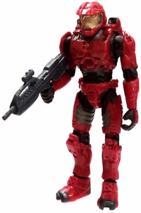 Halo 2 Loose Mini Action Figure 1/18 Scale Slayer Master Chief [Red]