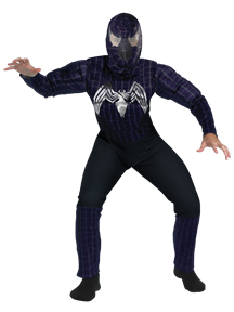 Spider-Man Costume #6608 Venom Quality Muscle Costume (Child 10-12)