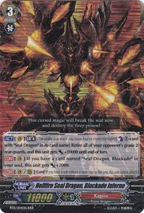 Cardfight Vanguard ENGLISH Seal Dragons Unleashed Single Card RRR Rare BT11/004 Hellfire Seal Dragon, Blockade Inferno