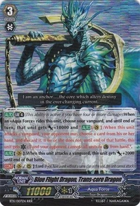 Cardfight Vanguard ENGLISH Seal Dragons Unleashed Single Card RRR Rare BT11/007 Blue Flight Dragon, Trans-core Dragon