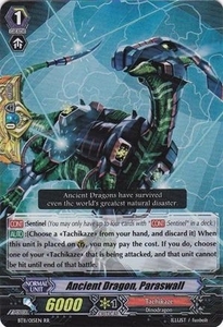 Cardfight Vanguard ENGLISH Seal Dragons Unleashed Single Card RR Rare BT11/015 Ancient Dragon, Paraswall