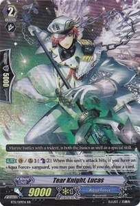 Cardfight Vanguard ENGLISH Seal Dragons Unleashed Single Card RR Rare BT11/019 Tear Knight, Lucas
