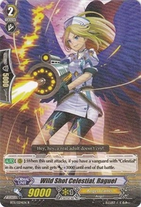 Cardfight Vanguard ENGLISH Seal Dragons Unleashed Single Card Rare BT11/024 Wild Shot Celestial, Raguel