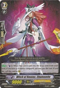 Cardfight Vanguard ENGLISH Seal Dragons Unleashed Single Card Rare BT11/028 Witch of Ravens, Chamomile