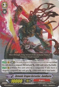 Cardfight Vanguard ENGLISH Seal Dragons Unleashed Single Card Rare BT11/030 Demonic Dragon Berserker, Gandharva