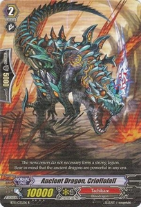 Cardfight Vanguard ENGLISH Seal Dragons Unleashed Single Card Rare BT11/035 Ancient Dragon, Criollofall