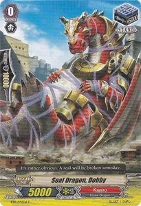 Cardfight Vanguard ENGLISH Seal Dragons Unleashed Single Card Common BT11/072 Seal Dragon, Dobby